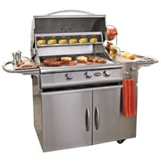 CalFlame A-LA-Cart Plus 3-Burner Built-In Propane Gas Grill w/ Cabinet