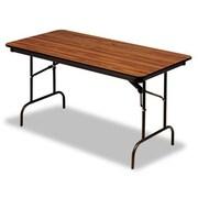 Iceberg Enterprises Iceberg Premium Wood Laminate 72'' Rectangular Folding Table; Oak