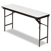Iceberg Enterprises Iceberg Premium Wood Laminate 60'' Rectangular Folding Table; Gray