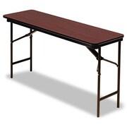 Iceberg Enterprises Iceberg Premium Wood Laminate 60'' Rectangular Folding Table; Mahogany