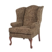 Comfort Pointe Paisley Wing Back Chair; Coco