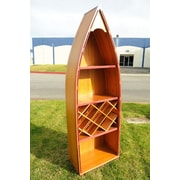 Old Modern Handicrafts Canoe 7 Bottle Floor Wine Rack