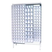 Quantum Free Standing Slider Storage System w/ 5 and 6 Compartment Tip Out Bins; White