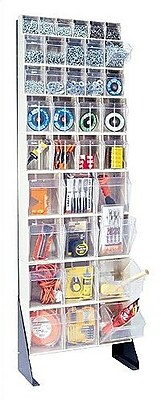 Quantum 75'' Single Sided Floor Stand Storage Unit w/ Tip Out Bins; White WYF078277074535
