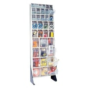 Quantum 75'' Single Sided Floor Stand Storage Unit w/ Tip Out Bins; Gray