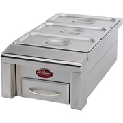 CalFlame 12 inch Drop In Food Warmer for Outdoor Grill Island by
