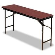 Iceberg Enterprises Iceberg Premium Wood Laminate 72'' Rectangular Folding Table; Mahogany