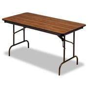 Iceberg Enterprises Iceberg Premium Wood Laminate 60'' Rectangular Folding Table; Brown
