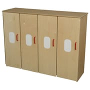 Wood Designs Toddler 4 Compartment Classroom Cabinet w/ Doors