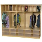 Wood Designs 1 Tier 5-Section Communication Center Locker; Translucent