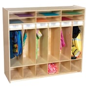 Wood Designs 1 Tier 6-Section Open Locker