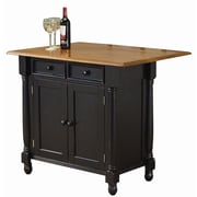 Sunset Trading Sunset Selections Kitchen Island; Antique Black / Cherry