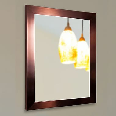 Rayne Mirrors Ava Industrial Bronze Wall Mirror; 34'' H x 28'' W x 0.75'' D