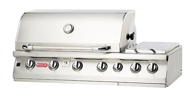 Bull Outdoor Burner Premium 7-Burner Built-In Propane Gas Grill w/ Side Burner; Liquid Propane WYF078276678461
