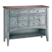 Stein World Painted Treasures 4 Drawer Accent Moonstone Cabinet