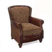 Seven Seas Seating Brantley Grain Leather Chair; Capado Fabric with Carvaggio Leather