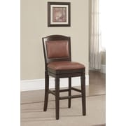 American Heritage Artesian Swivel Bar Stool with Cushion; Crimson
