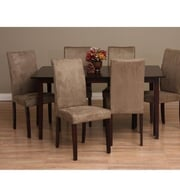 Warehouse of Tiffany Shino 7 Piece Dining Furniture Set; Light Brown by