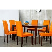 Warehouse of Tiffany Shino 7 Piece Dining Furniture Set; Orange by