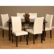 Warehouse of Tiffany Shino 7 Piece Dining Furniture Set; Chalk by