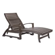 CR Plastic Products St. Tropez Chaise Lounge; Chocolate