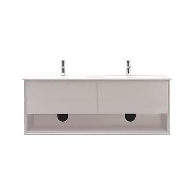 Avanity Sonoma 63'' Double Bathroom Vanity Set; Glossy white