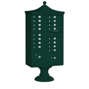 Salsbury Industries Regency 16 Door Decorative CBU Mailbox for Private Access; Green