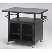 The Outdoor GreatRoom Company Bistro 24'' Cabinet with 36'' Granite Top and Black Glass Doors