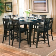 Wildon Home   Lakeside Counter Height Extendable Dining Table; Rich Black