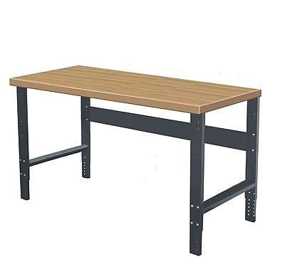 Hallowell Shop Wood Top Workbench; 72'' W x 36'' D