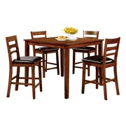 Hokku Designs Spencer 5 Piece Counter Height Pub Dining Set