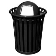 Witt Wydman 36-Gal Outdoor Trash Receptacle; Silver