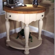 Kaco Signature Kitchen Island with Butcher Block Top; Cream