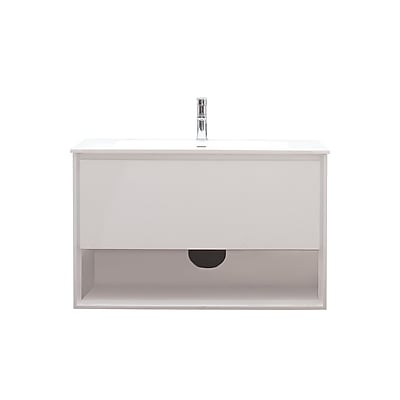 Avanity Sonoma 39'' Single Bathroom Vanity Set; Glossy white