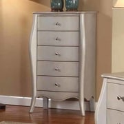 InRoom Designs Jewelry Armoire; Silver