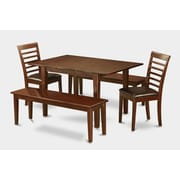 Wooden Importers Picasso 5 Piece Dining Set; Faux Leather