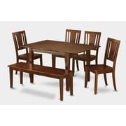 Wooden Importers Picasso 6 Piece Dining Set; Wood Seat