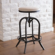 Home Loft Concepts Desmond Adjustable Height Bar Stool with Cushion