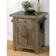 Jofran Slater Mill Kitchen Island with Granite Top