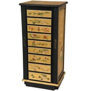 Oriental Furniture Jewelry Armoire with Mirror