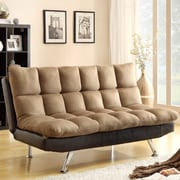 Wildon Home   Adjustable Sleeper Sofa Futon and Mattress; Two Tone Brown