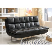 Wildon Home   Adjustable Sleeper Sofa Futon and Mattress; Black