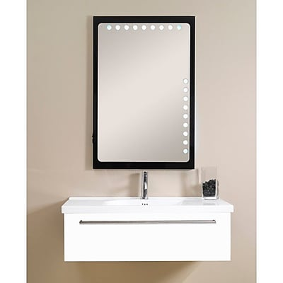 Iotti by Nameeks Fly 40'' Single Bathroom Vanity Set with Mirror; Glossy White