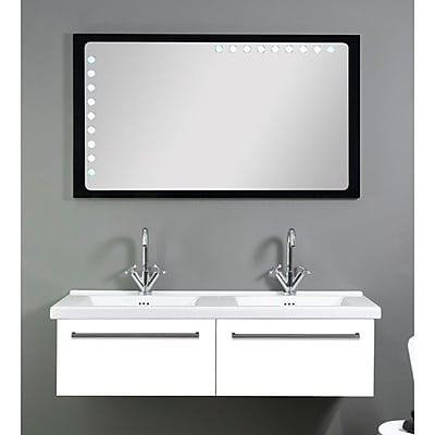 Iotti by Nameeks Fly 49'' Double Bathroom Vanity Set with Mirror; Glossy White
