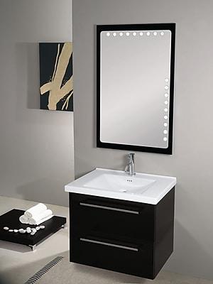 Iotti by Nameeks Fly 29'' Single Wall Mounted Bathroom Vanity Set with Mirror; Glossy Black