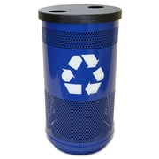 Witt Stadium Series 35-Gal Perforated Multi Compartment Recycling Bin