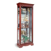 Philip Reinisch Co. Candlelight Cherry Andante Curio Cabinet