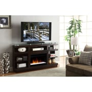 Legends Furniture Novella TV Stand with Electric Fireplace; Dark Chocolate