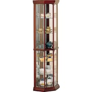 Wildon Home   Benton City Curio Corner Cabinet with Mirror