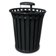 Witt Wydman 36-Gal Outdoor Trash Receptacle; Black